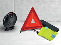 Triangoli di sicurezza e kit di emergenza