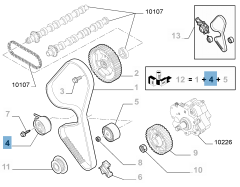 Tendicinghia regolabile per Fiat Professional Scudo