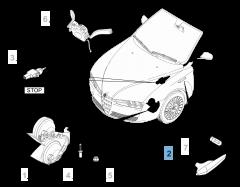 Indicatore di direzione laterale sinistro per Alfa Romeo