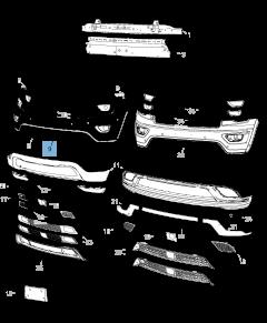 Paraurti anteriore superiore per Jeep Grand Cherokee