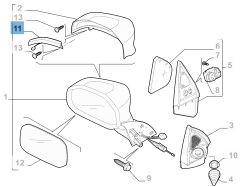 Indicatore di direzione laterale per Fiat Professional Strada