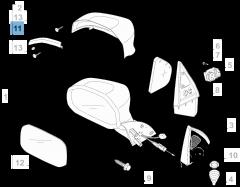 Indicatore di direzione laterale sinistro per Fiat Professional Strada