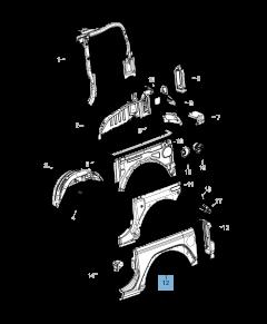 Parafango posteriore per Jeep Wrangler