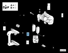 Pastiglia freno disco posteriore (Set 4 pezzi)