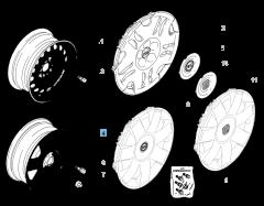 """Cerchio in lega 7J x 16"""" per Fiat e Fiat Professional"""