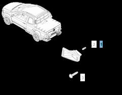 Luce targa destro per Fiat Professional Strada