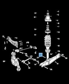 Ammortizzatore posteriore per Lancia Flavia
