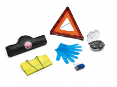 Kit Sicurezza con Triangolo Mini , Guanti, Gilet e Kit lampadine