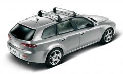 Barre portatutto in alluminio per tetto per Alfa Romeo 159