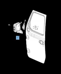 Specchietto retrovisore esterno per Jeep Wrangler