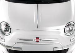 Protezioni cromate su paraurti anteriore per Fiat 500