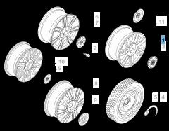 "Cerchio in lega 6J x 15"" per Lancia Ypsilon"