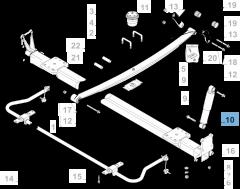 Ammortizzatore posteriore per Fiat e Fiat Professional