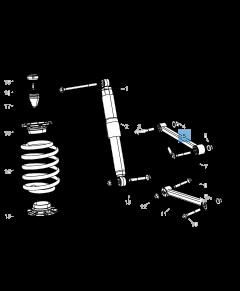 Braccio oscillante per sospensione posteriore superiore per Jeep