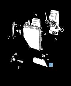 Lampada indicatore di posizione e direzione per Jeep Cherokee