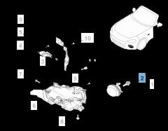 Lampadina proiettore anteriore H11 55W 12V