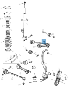 Braccio oscillante per sospensione anteriore superiore per Lancia Thema