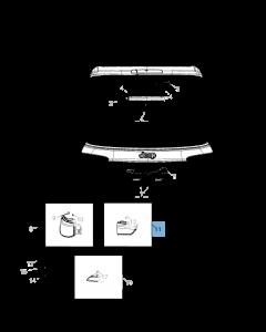 Lampadina portellone posteriore destro per Jeep Compass