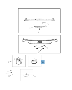 Lampadina portellone posteriore sinistro per Jeep Compass