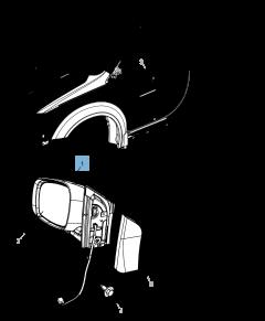 Specchietto retrovisore esterno per Lancia Voyager