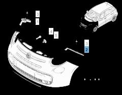 Staffa per Paraurti Anteriore Sinistro per Fiat 500L