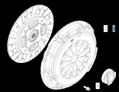 Kit frizione (disco, spingidisco e cuscinetto reggispinta)