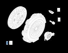 Kit frizione (disco, spingidisco e cuscinetto reggispinta) per Fiat Professional Fiorino