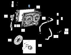 Radiatore per raffreddamento motore