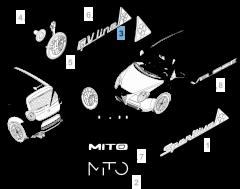 Badge quadrifoglio laterale sinistro per Alfa Romeo Mito
