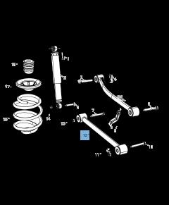 Braccio oscillante per sospensione posteriore inferiore per Jeep Wrangler