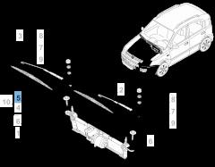 Spazzola tergicristallo lato passeggerio per Fiat Panda