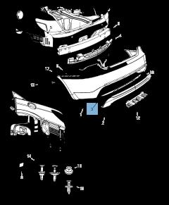 Lampada fanale posteriore per Lancia Flavia