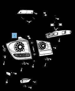 Fanale posteriore (posizione, stop e direzione) per Fiat Freemont