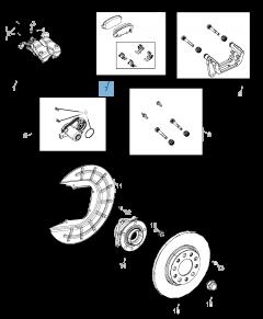 Pastiglia freno disco posteriore (Set 4 pezzi) per Jeep Compass