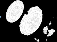 Kit frizione (disco e spingidisco) per Fiat Stilo