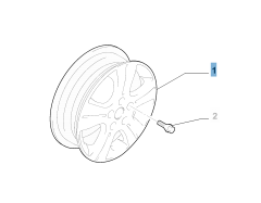 "Cerchio in lega 6J x 16"" per Fiat Sedici"