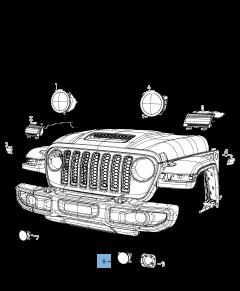 Fendinebbia per Jeep
