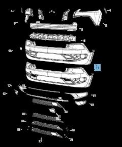 Paraurti anteriore inferiore per Jeep Cherokee