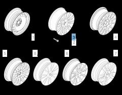 """Cerchio in lega 7J x 16"""" H2 per Fiat e Fiat Professional"""