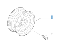 Cerchio in acciaio da 6J x 15''