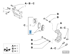 Pastiglia freno disco anteriore (Set 4 pezzi)