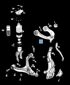 Braccio oscillante per sospensione anteriore superiore per Jeep Grand Cherokee
