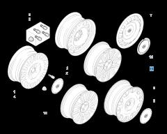 "Cerchio in lega 7J x 16"" per Lancia Phedra"