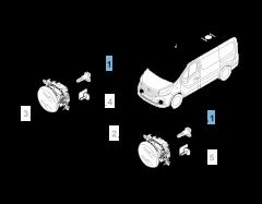 Lampadina fendinebbia H16 per Fiat Professional Talento