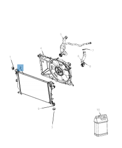 Radiatore per raffreddamento motore per Jeep Compass
