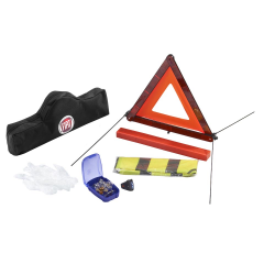 Kit sicurezza con triangolo e gilet catarifrangente