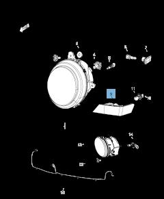 Lampada indicatore di posizione e direzione per Jeep Compass/Patriot