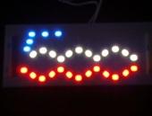 Lampadine a LED con logo 500 in rosso e blu
