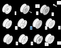 """Cerchio in lega 7J x 16"""" per Alfa Romeo Giulietta"""