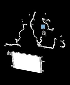 Pompa acqua , impianto raffreddamento ausiliario per Jeep Wrangler